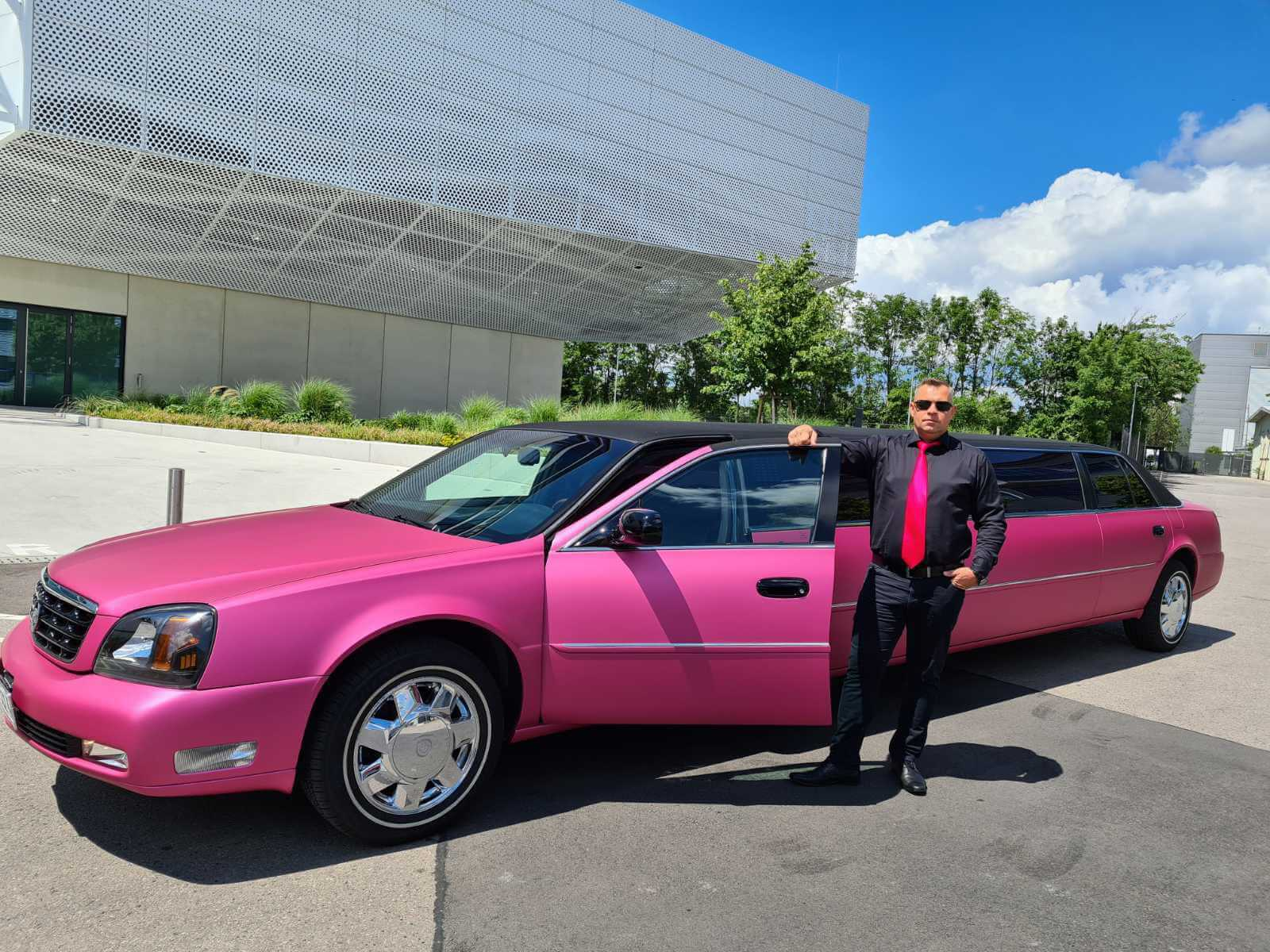 Pink Party Limousine